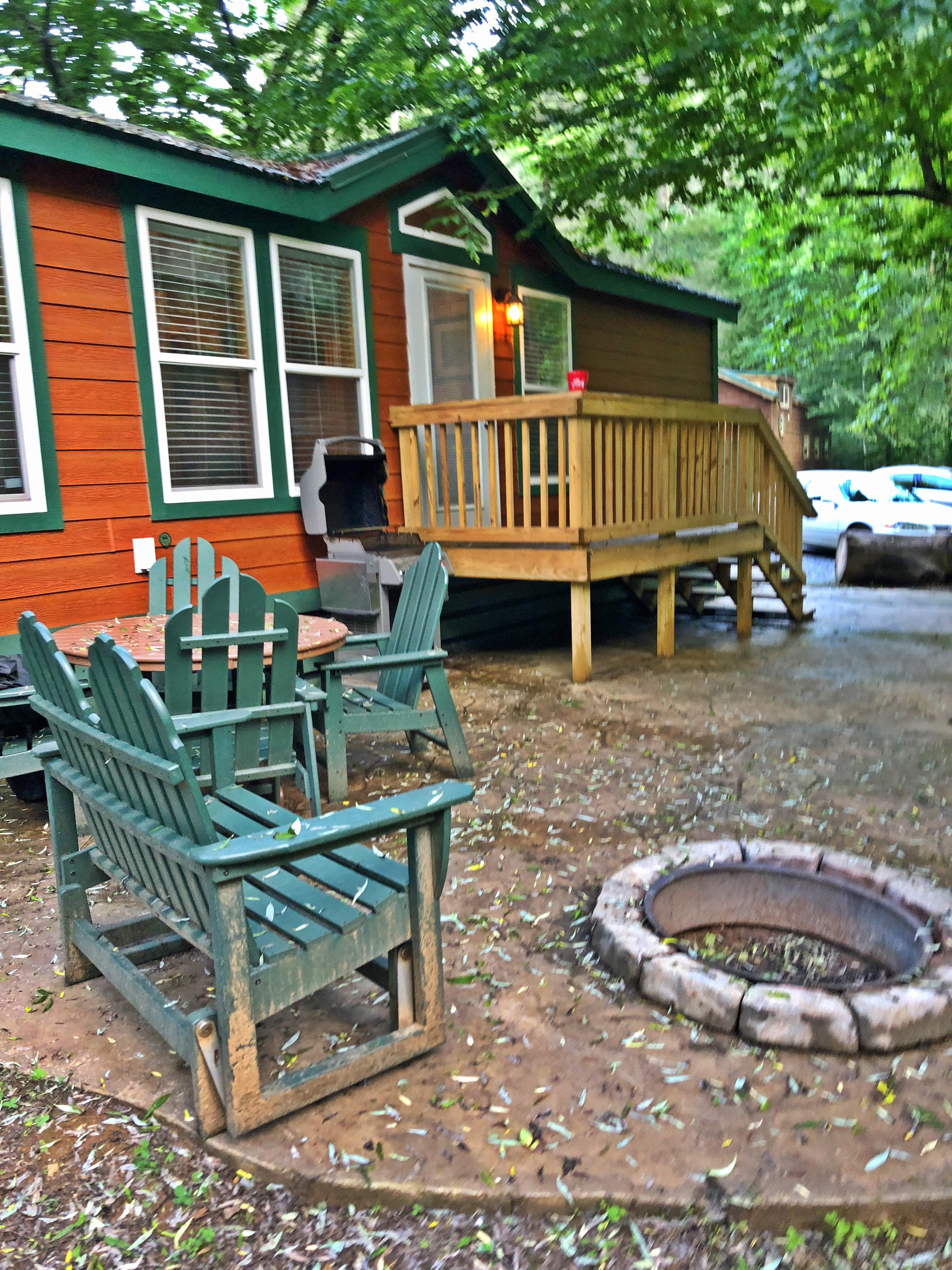 camping at KOA Cherokee, NC